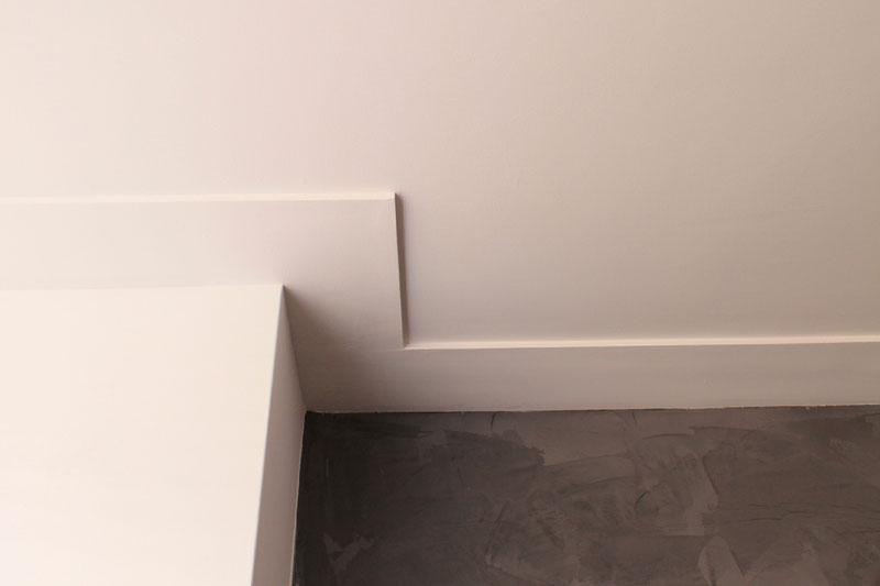 Gestuct Plafond Badkamer : Plafondafwerking